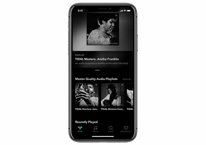 Tidal Masters on iPhone