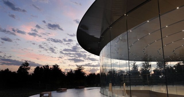 The Steve Jobs Theater at Apple Park, Apple's current headquarters