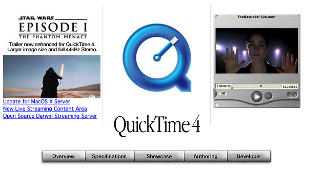 Star Wars was so popular that Apple made it the centerpiece of its QuickTime promotions