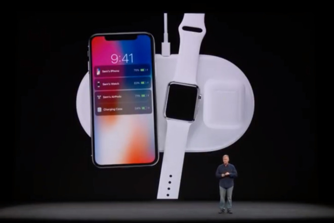 Phil Schiller offering a sneak peak at the AirPower charging pad back in 2017