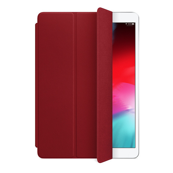 The 2019 leather iPad Air Smart Cover in (PRODUCT)RED.