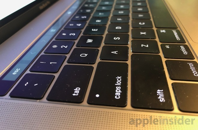 A current MacBook Pro keyboard