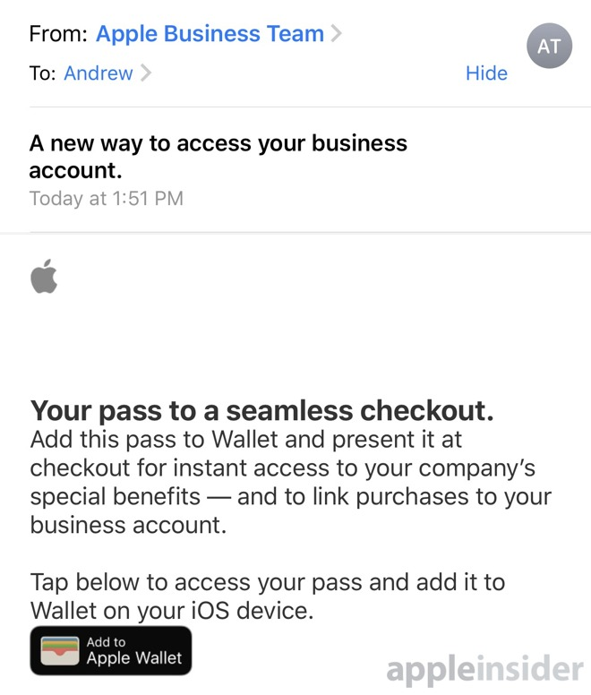 Apple Business email