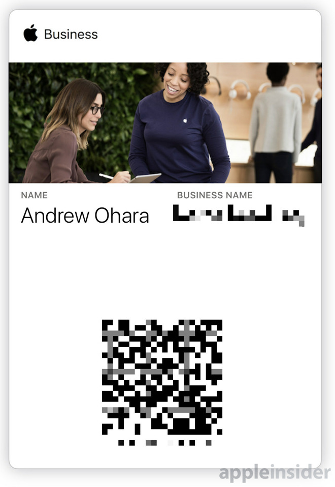 Apple Business Wallet pass