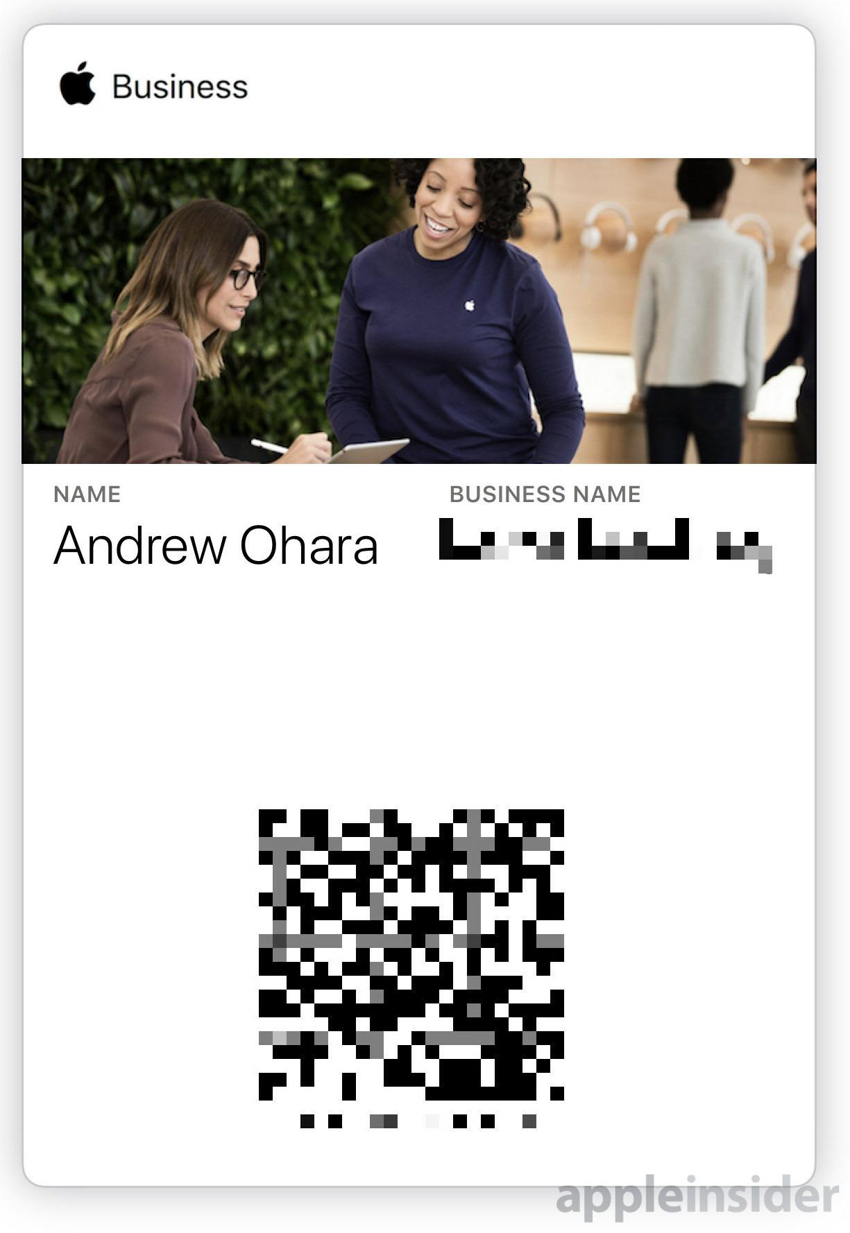 Apple Business Wallet pass