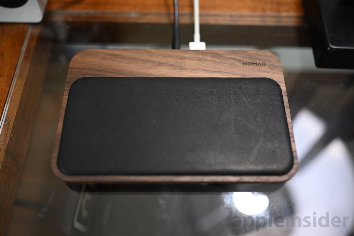 Hands on with the nicest wireless charger we've found yet -- Nomad walnut Base Station
