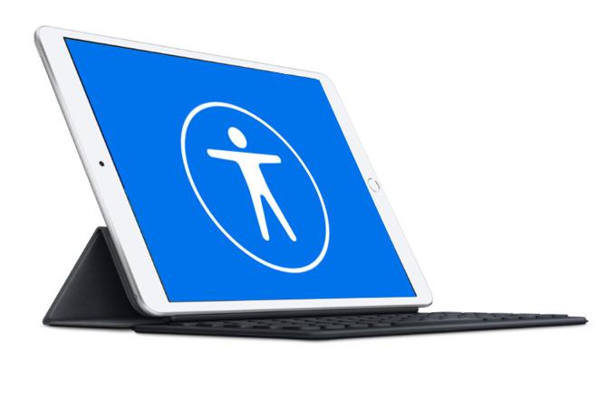 Apple's Accessibility logo on a 2019 iPad Air
