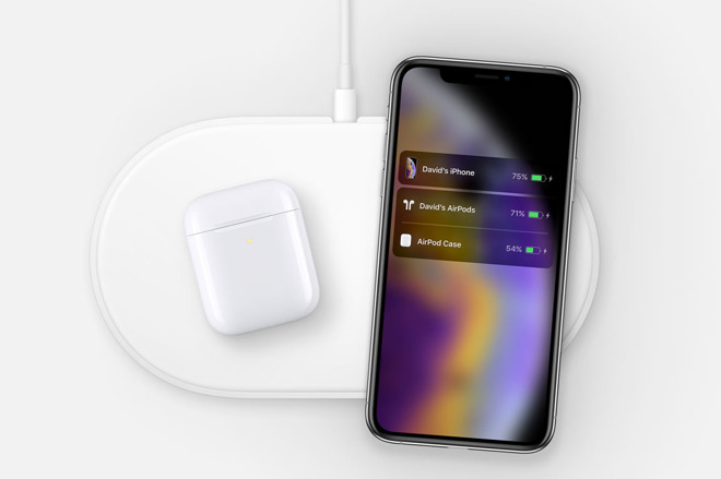 The AirPower image discovered in the source code for Apple's AirPods page on its Australian website