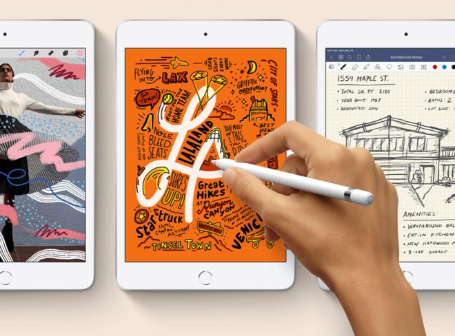 The new 2019 iPad mini supports the Apple Pencil
