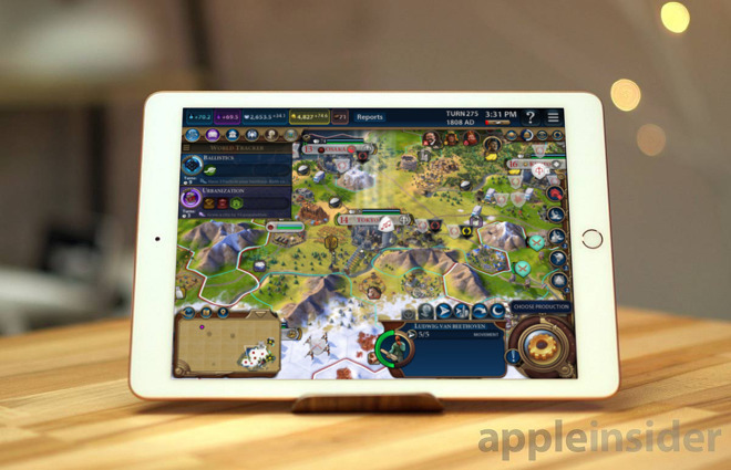 Civilization VI on the iPad, one of the more full-featured paid games on the App Store