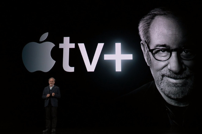 Steven Spielberg at Apple's video event