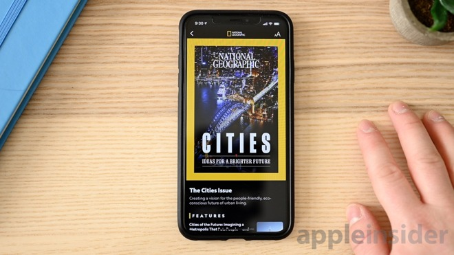 Apple News+ National Geographic magazine