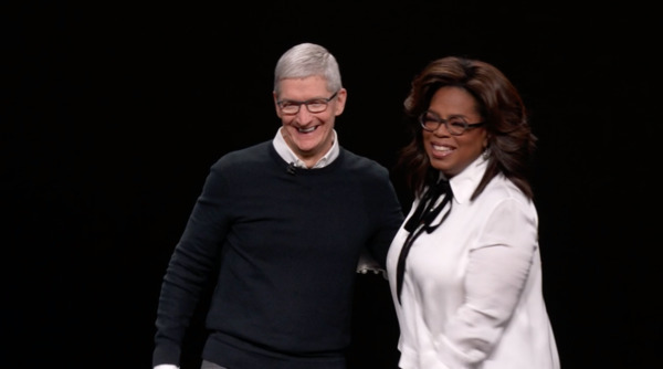 Apple CEO Tim Cook and Oprah Winfrey