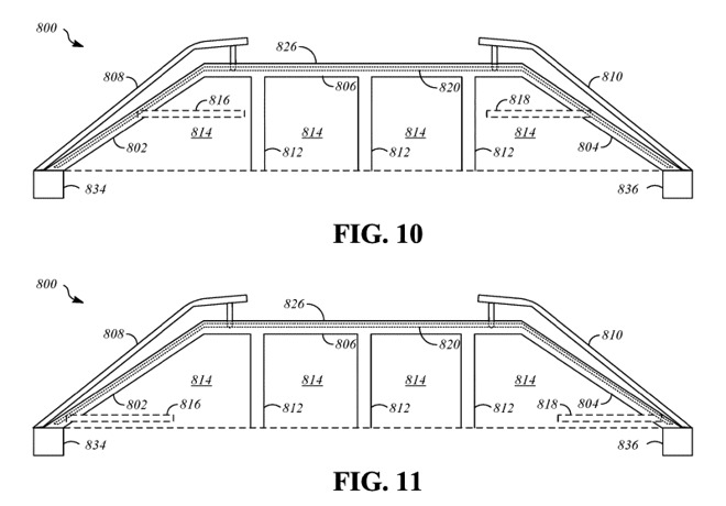 A diagram of how the external sections could be raised, and the panels brought internally