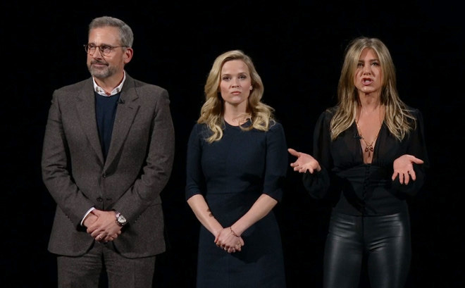 'The Morning Show' stars Steve Carell, Reese Witherspoon, and Jennifer Aniston.