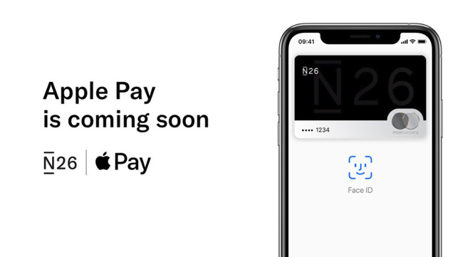 N26's tweet graphic accompanying news of its imminent support of Apple Pay in more countries