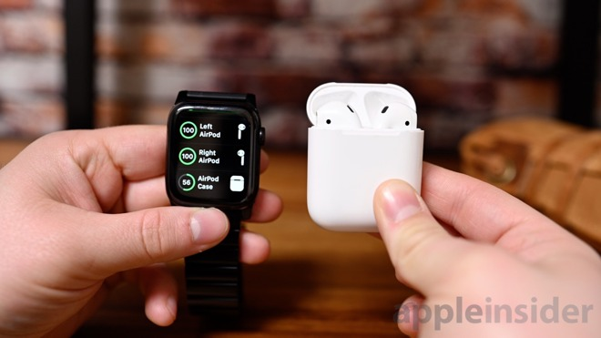 AirPods battery on Apple Watch