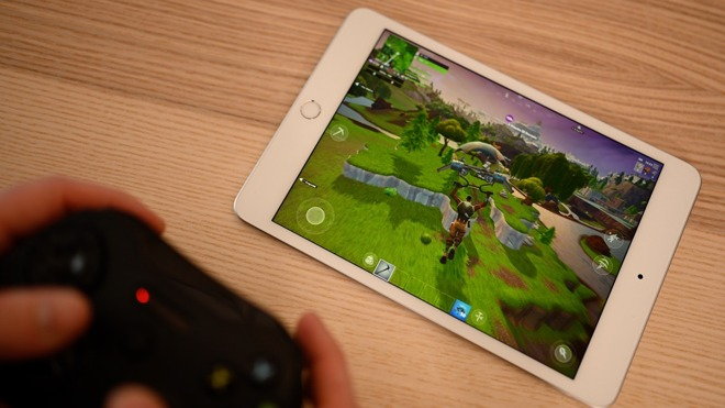 Fornite on iPad mini 5