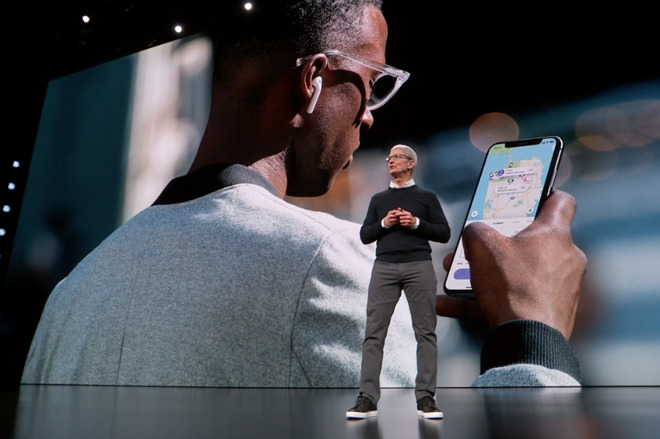 Apple CEO Tim Cook introducing Apple Card