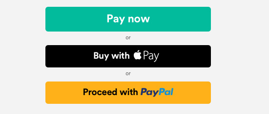 A typical online store's checkout options when it accepts Apple Pay