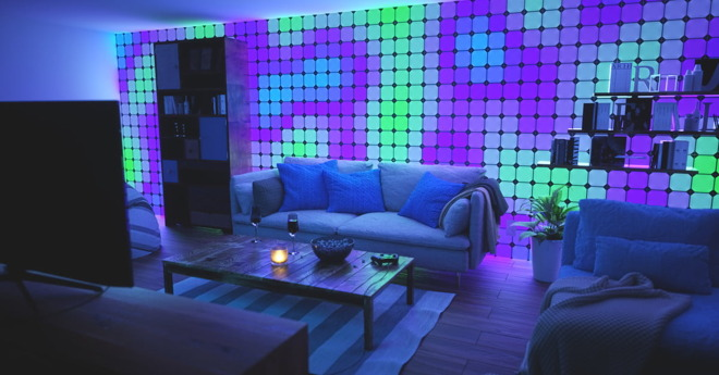 An early version of Nanoleaf's HomeKit-compatible Canvas light panels.
