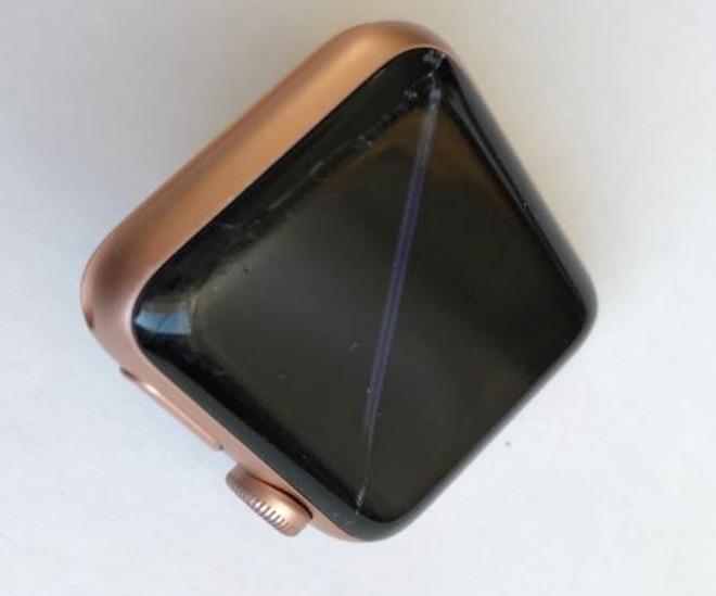 Priano-Keyser's broken Apple Watch Series 3.