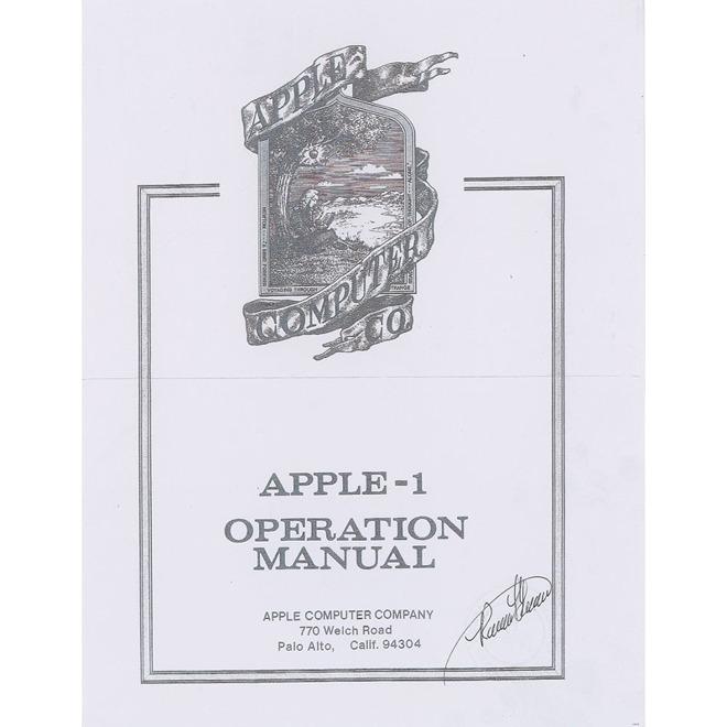 Apple I manual