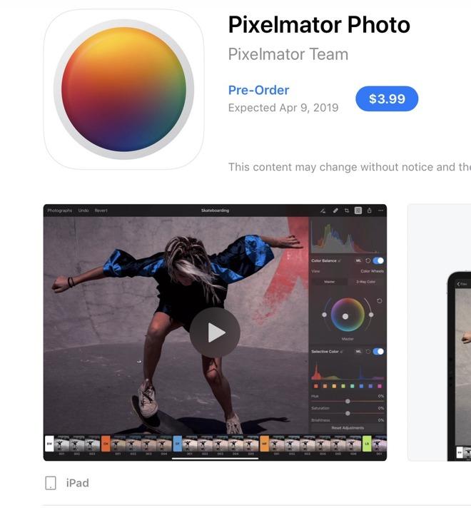 Pixelmator Photo preorder