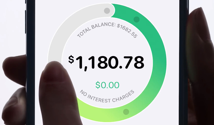 Swipe around the circle to raise or decrease how much you're going to pay and see the interest charges that will cause