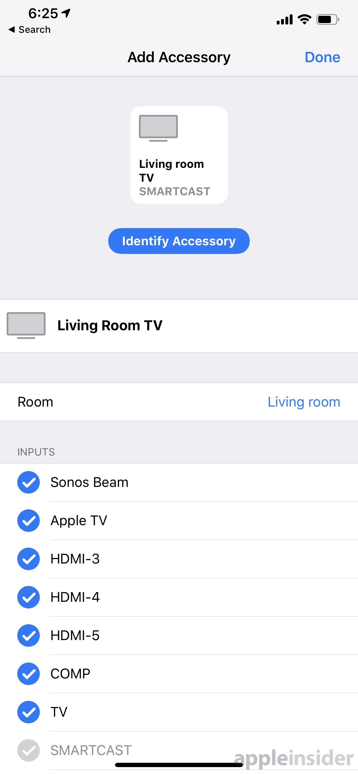 Vizio TV in the Home app