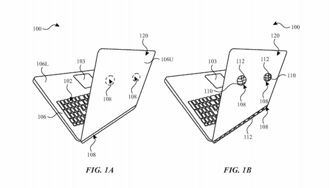 An exaggerated example of how bulges could be located on a MacBook.