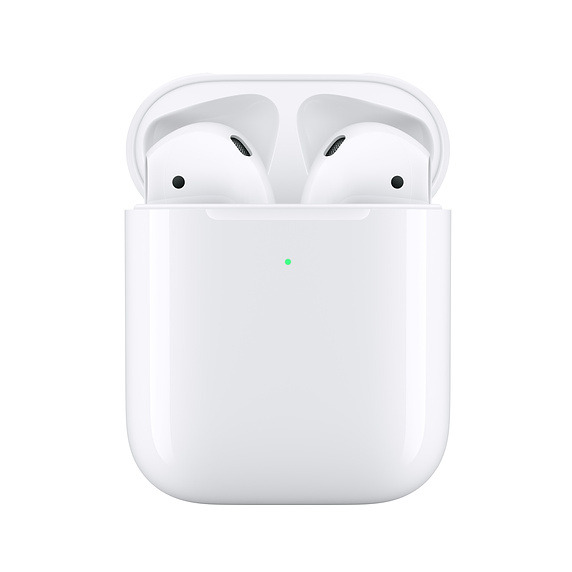 Apple's second-gen AirPods in the Wireless Charging Case.