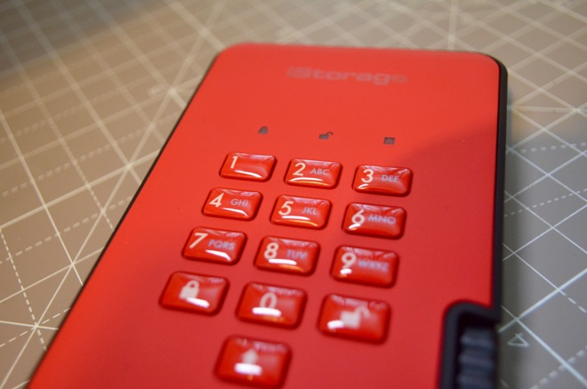 The keypad is coated to prevent wear that could reveal a PIN.
