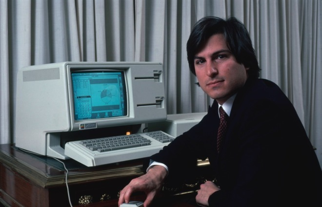 Steve Jobs with the Apple Lisa