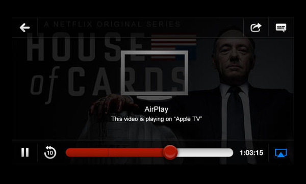 Netflix disabled AirPlay because it isn't being told what