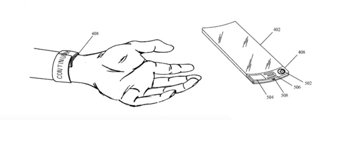This drawing is from an Apple patent that used the word 'bracelet' rather than 'watch' but in so many other ways has the Apple Watch nailed down. (Source: USPTO)