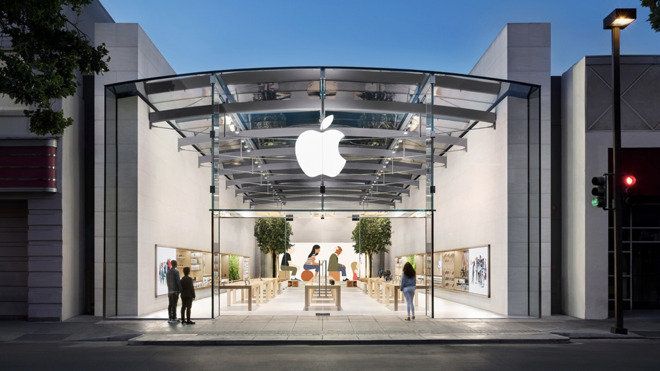 The Apple Store in Palo Alto