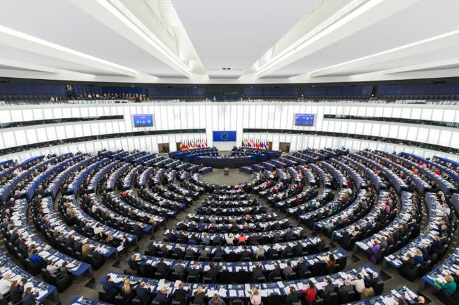 The European Parliament in Strasburg