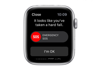 The alert displayed on your Watch when a fall is detected