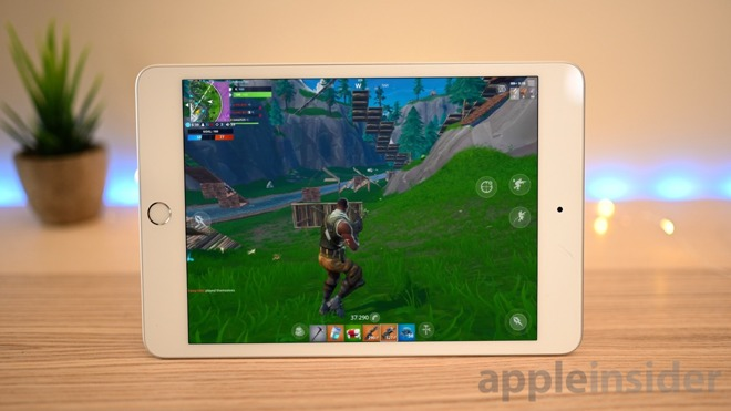 Fortnite at 60 fps on iPad mini 5
