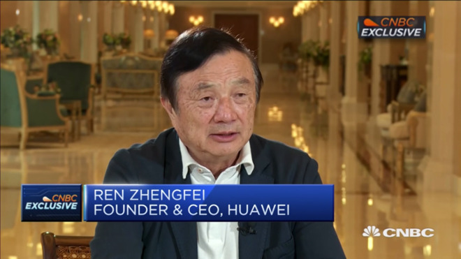 Ren Zhengfei speaking on CNBC