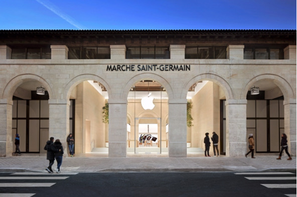 Apple Marche Saint-Germain, near Notre Dame. (Source: Apple)