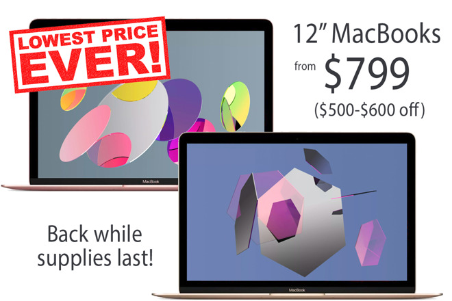 Apple 12 inch MacBook lowest prices ever