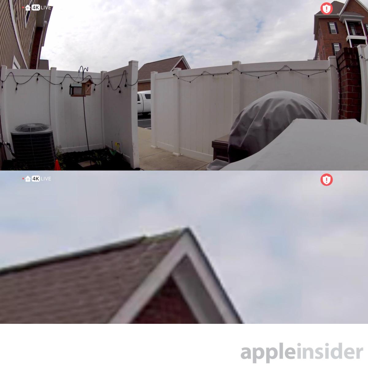 Arlo Ultra at 4K —  Wide angle (top) and 12X digital zoom (bottom)