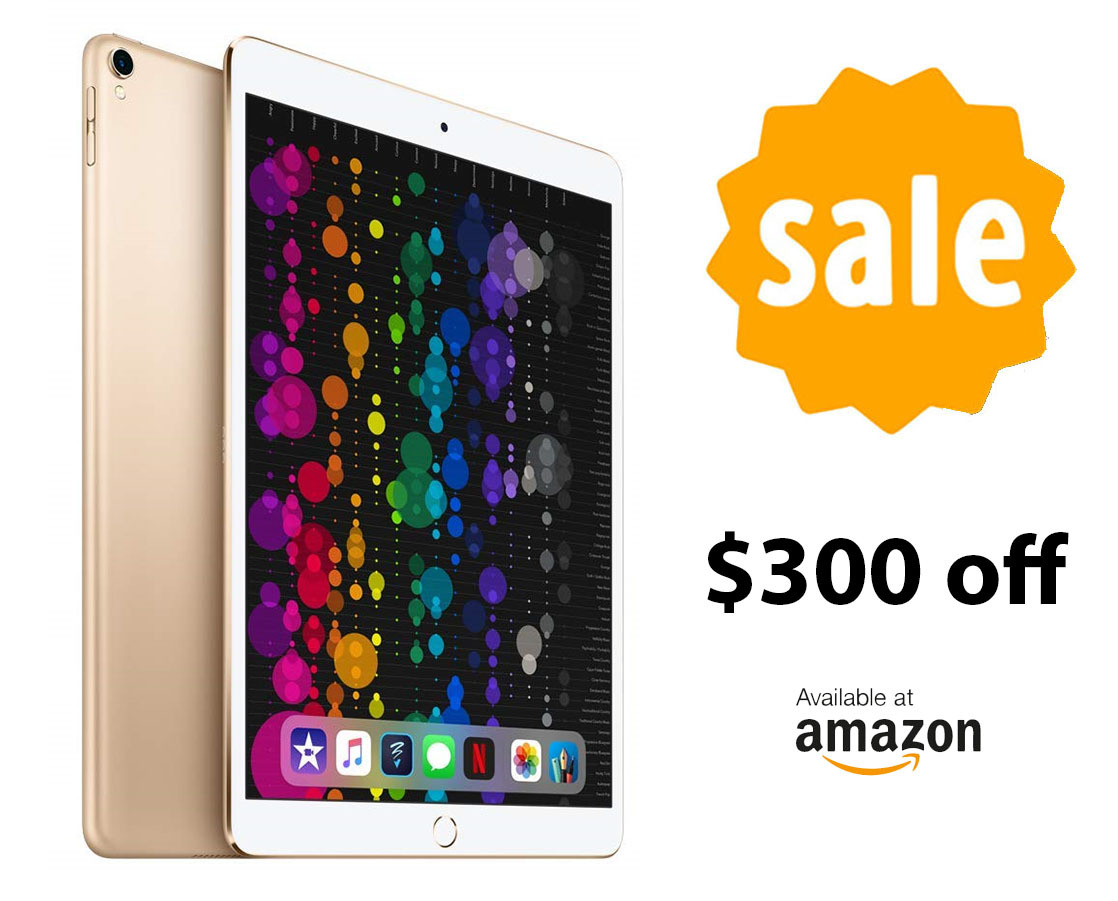 Amazon issues $300 discount on Apple's 512GB 10.5-inch iPad Pro while supplies last