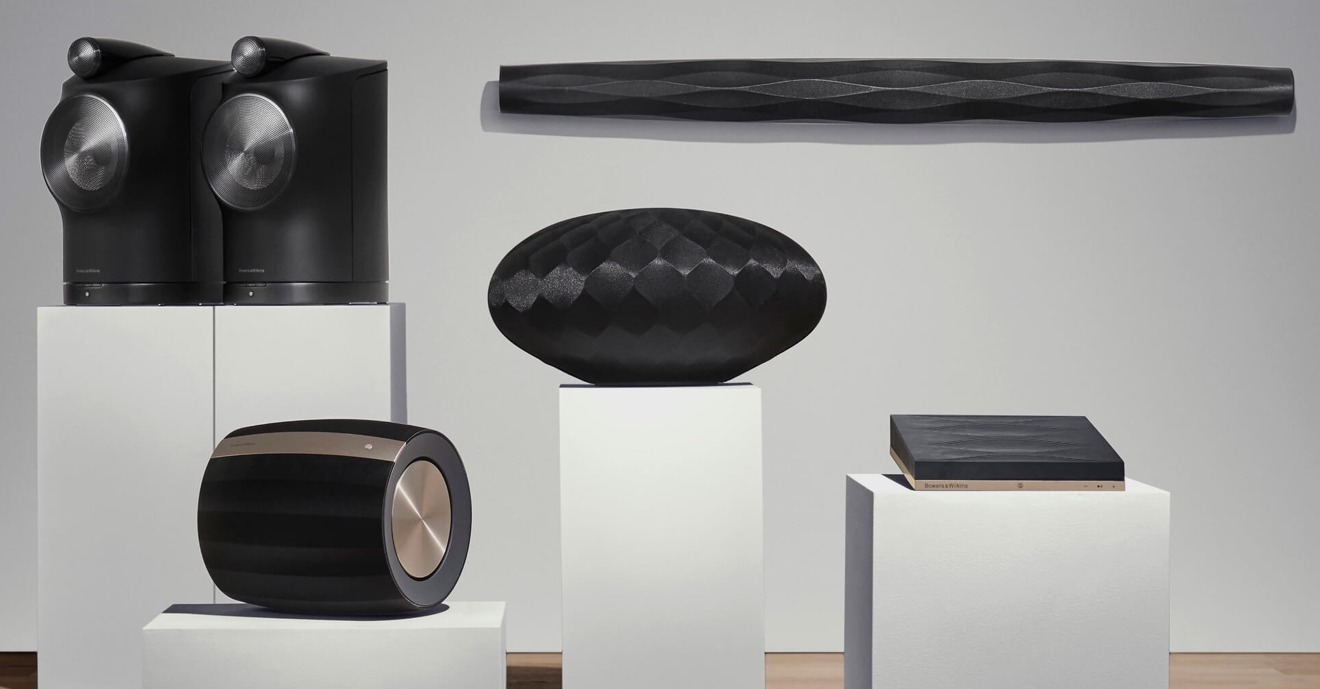 Bowers & Wilkins wireless Formation Suite speaker setup supports AirPlay 2