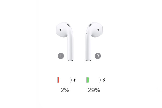 These are original AirPods from December 2016 and their battery level after less than two hours use