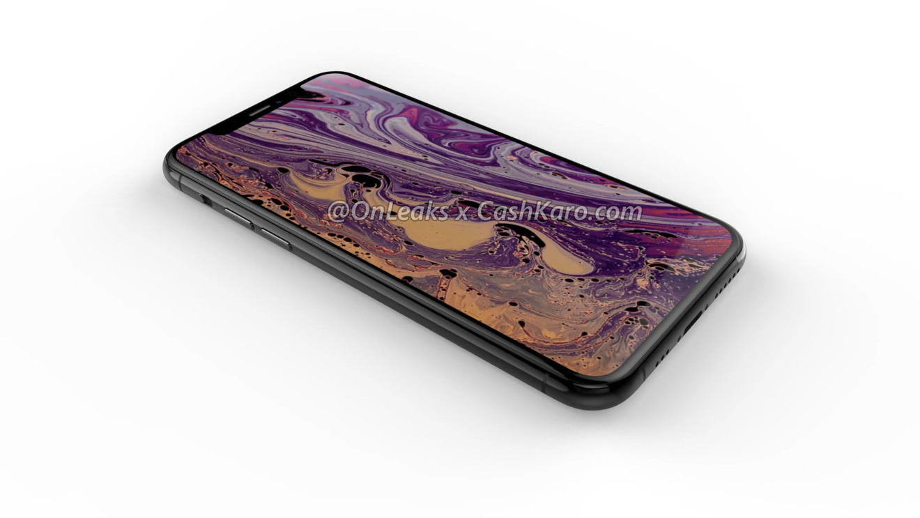 The front has a smaller notch, thinner bezels, and a different sliding button.