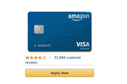 Amazon's card is metal. And of course it's got reviews.