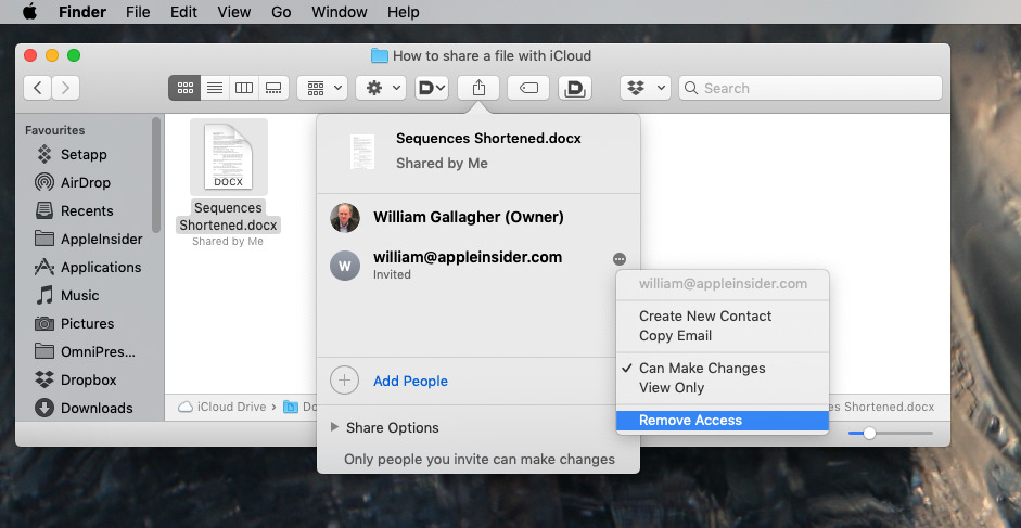 After you've shared any document, you can see who has access —  and revoke that if necessary
